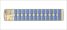 路線タイプ大型バス(60名乗り)座席図