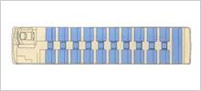路線タイプ大型バス(55名乗り)座席図